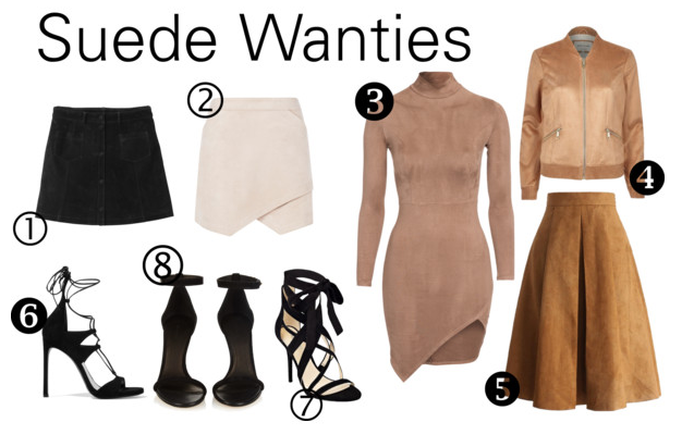 Suede wanties